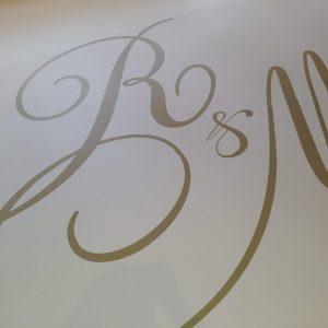 custom vinyl dance floor mongram