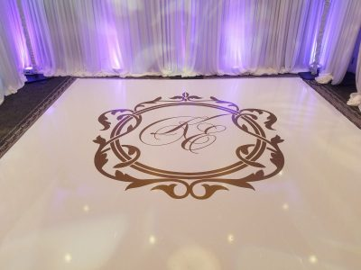 Vinyl Dance Floor Monogram